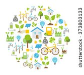 vector background   ecology... | Shutterstock .eps vector #373803133