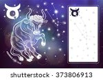 taurus  sign.taurus ope... | Shutterstock .eps vector #373806913