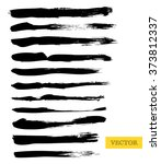 set of vector grunge brushes.... | Shutterstock .eps vector #373812337