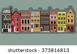 facades of old european...   Shutterstock .eps vector #373816813