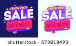 sale banner  badges  design... | Shutterstock .eps vector #373818493