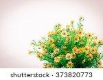 vintage yellow flowers in... | Shutterstock . vector #373820773