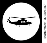 simple military helicopter... | Shutterstock .eps vector #373821307