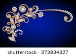 jewelry background with diamond ... | Shutterstock .eps vector #373834327