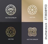 vector logo design templates... | Shutterstock .eps vector #373838953
