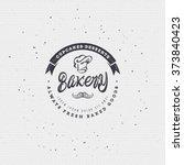 bakery. handwritten inscription.... | Shutterstock .eps vector #373840423