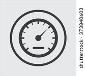 speedometer icon in a circle | Shutterstock .eps vector #373840603
