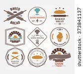 set of bakery products vector... | Shutterstock .eps vector #373841137
