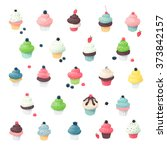 clip art collection of cupcake... | Shutterstock .eps vector #373842157
