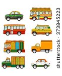 set of cartoon indian jingle... | Shutterstock .eps vector #373845223