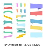stickers. set of colored... | Shutterstock .eps vector #373845307