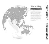 dotted world map background.... | Shutterstock .eps vector #373850257