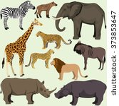 Vector Set Of Cartoon African...