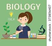 biology research vector work...   Shutterstock .eps vector #373856407