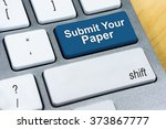 written word submit your paper... | Shutterstock . vector #373867777