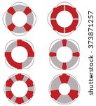 set of lifebuoy icons  vector... | Shutterstock .eps vector #373871257