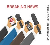 breaking news. vector live... | Shutterstock .eps vector #373874563