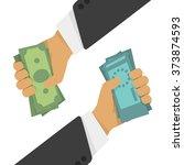 currency exchange  money...   Shutterstock .eps vector #373874593