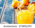 Close Up Of Fresh Orange Froze...