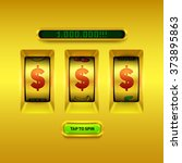 gold slot machine background. | Shutterstock .eps vector #373895863