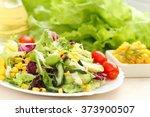 fresh salad made of vegetables... | Shutterstock . vector #373900507