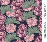 peony pattern.vector flower | Shutterstock .eps vector #373912447