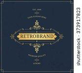 vector calligraphic logo... | Shutterstock .eps vector #373917823