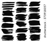 black painted labels set... | Shutterstock .eps vector #373918357