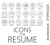 thin line icons pack for cv ... | Shutterstock .eps vector #373932223