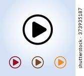 play button sign icon  vector... | Shutterstock .eps vector #373935187