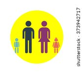 happy family vector icon | Shutterstock .eps vector #373942717