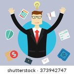 business  success and idea... | Shutterstock .eps vector #373942747