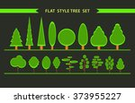 flat style forest icons  vector ... | Shutterstock .eps vector #373955227
