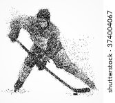abstract hockey player of the... | Shutterstock . vector #374004067