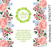 vintage delicate invitation... | Shutterstock . vector #374017477