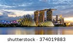 singapore skyline and view of... | Shutterstock . vector #374019883