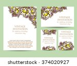romantic invitation. wedding ...   Shutterstock . vector #374020927
