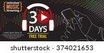 30 days free trial 1500x600... | Shutterstock .eps vector #374021653
