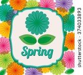 spring season design  | Shutterstock .eps vector #374033893