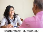 closeup portrait  appointment... | Shutterstock . vector #374036287