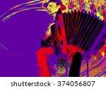 folk musicians | Shutterstock . vector #374056807