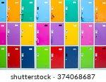 school lockers | Shutterstock . vector #374068687