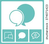 message icons.  | Shutterstock .eps vector #374071423