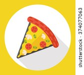 pizza flat icon | Shutterstock .eps vector #374077063