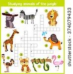 a colorful children's cartoon... | Shutterstock . vector #374079433