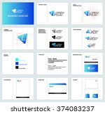 branding  corporate identity... | Shutterstock .eps vector #374083237