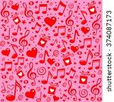 happy st. valentine's day  pink ... | Shutterstock .eps vector #374087173