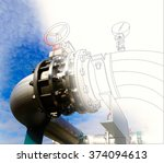 wireframe computer cad design... | Shutterstock . vector #374094613