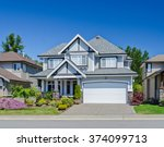 big custom made luxury house... | Shutterstock . vector #374099713