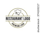 chef logo template | Shutterstock .eps vector #374103217